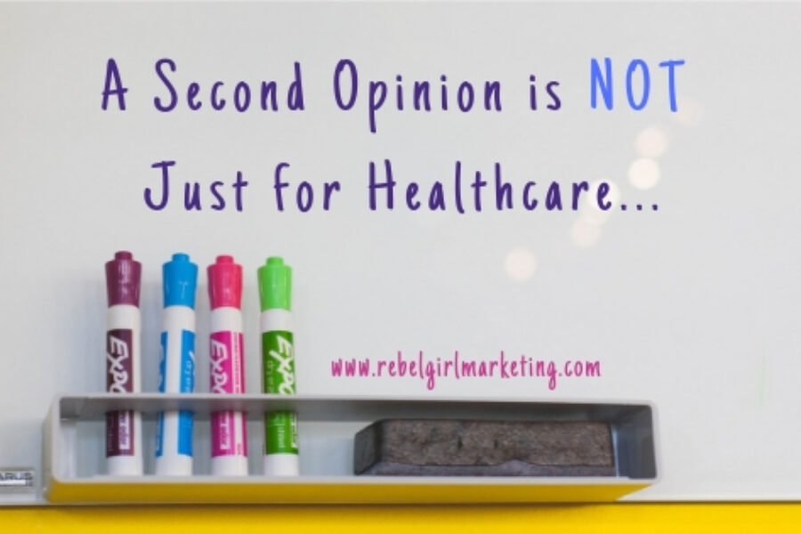 Second Opinions are NOT just for Healthcare